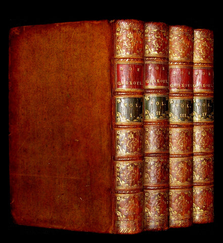 1770 Rare Book set ~ The History and Adventures of the Renowned Don Quixote (4 vols).