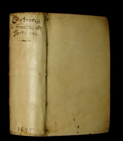 1645 Rare Book - Francesco Petrarca - Petrarch's Remedies for Fortune Fair and Foul