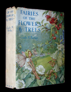 1950 - Cicely Mary Barker - FAIRIES OF THE FLOWERS AND TREES - 1st Edition with dust jacket