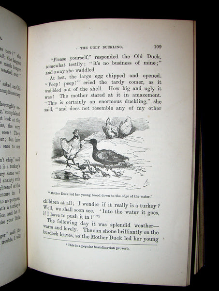 1895 Rare Victorian Book -  Hans Christian Andersen's FAIRY TALES and Stories illustrated