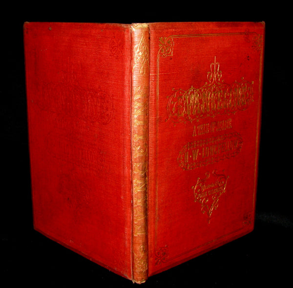 1856 Rare Victorian Book - Evangeline  A tale of Acadie by Henry Wadsworth Longfellow.