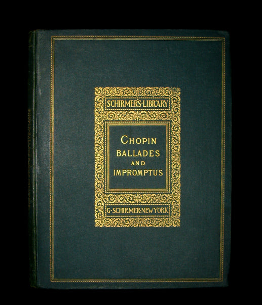 1894 Rare Victorian edition of Frederic CHOPIN Ballades & Impromptus  - Music scores