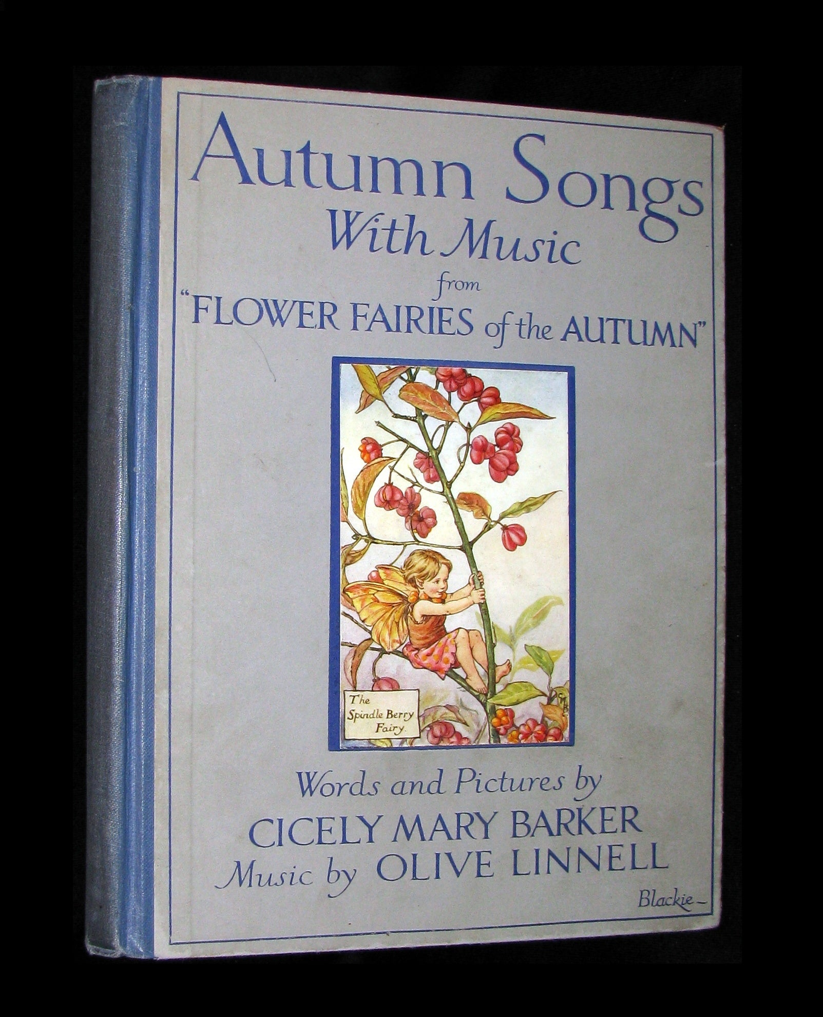 "1927 First Edition - Cicely Mary Barker - Autumn Songs with Music from ""Flower Fairies of the Autumn"""