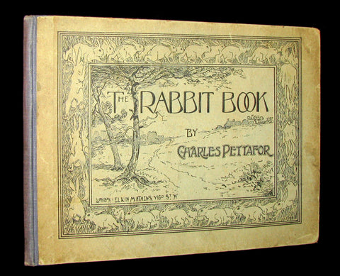 1900 Scarce Victorian Book - THE RABBIT BOOK by British painter Charles R. Pettafor