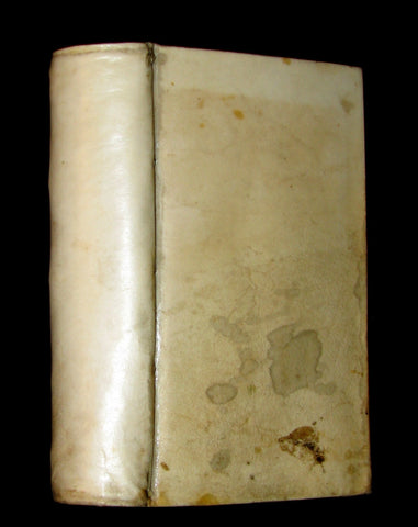 1721 Scarce Latin Vellum Book - OPERA MATHEMATICA by Ignace-Gaston Pardies Illustrated