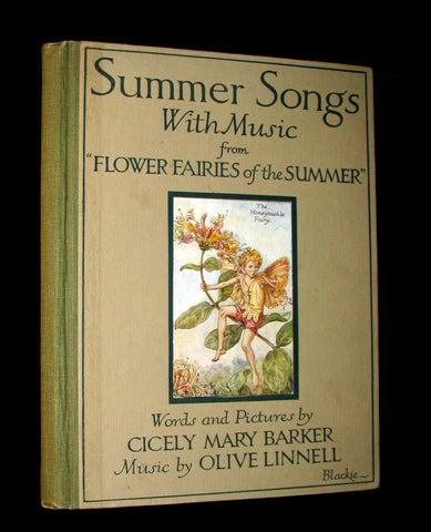 "1927 First Edition - Cicely Mary Barker - Summer Songs with Music from ""Flower Fairies of the Summer"""