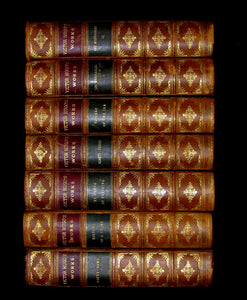 1888 Rare Victorian Book set - Victor Hugo Works - Notre-Dame, Les Miserables, etc.