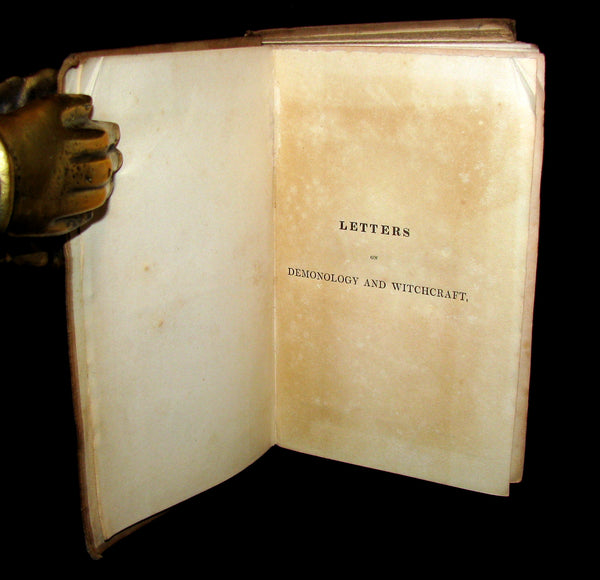 1831 Rare in Original Binding - Letters on Demonology & Witchcraft - WITCHES & FAIRIES.