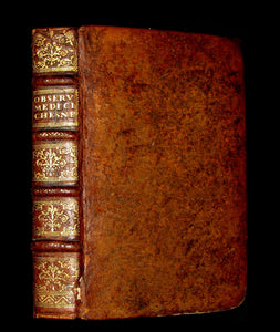 1672 Rare Medical 1stED Book - Doctor Chesneau Medical Observations and Remedies
