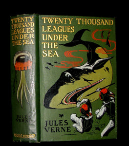1900 Rare Victorian Book - Twenty Thousand Leagues Under the Sea by Jules Verne