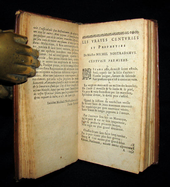 1669 Scarce French Book ~ NOSTRADAMUS Prophecies ~ Les Vrayes Centuries et Propheties.