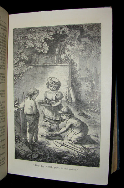1890 Rare Victorian Book -  Hans Christian Andersen's FAIRY TALES illustrated