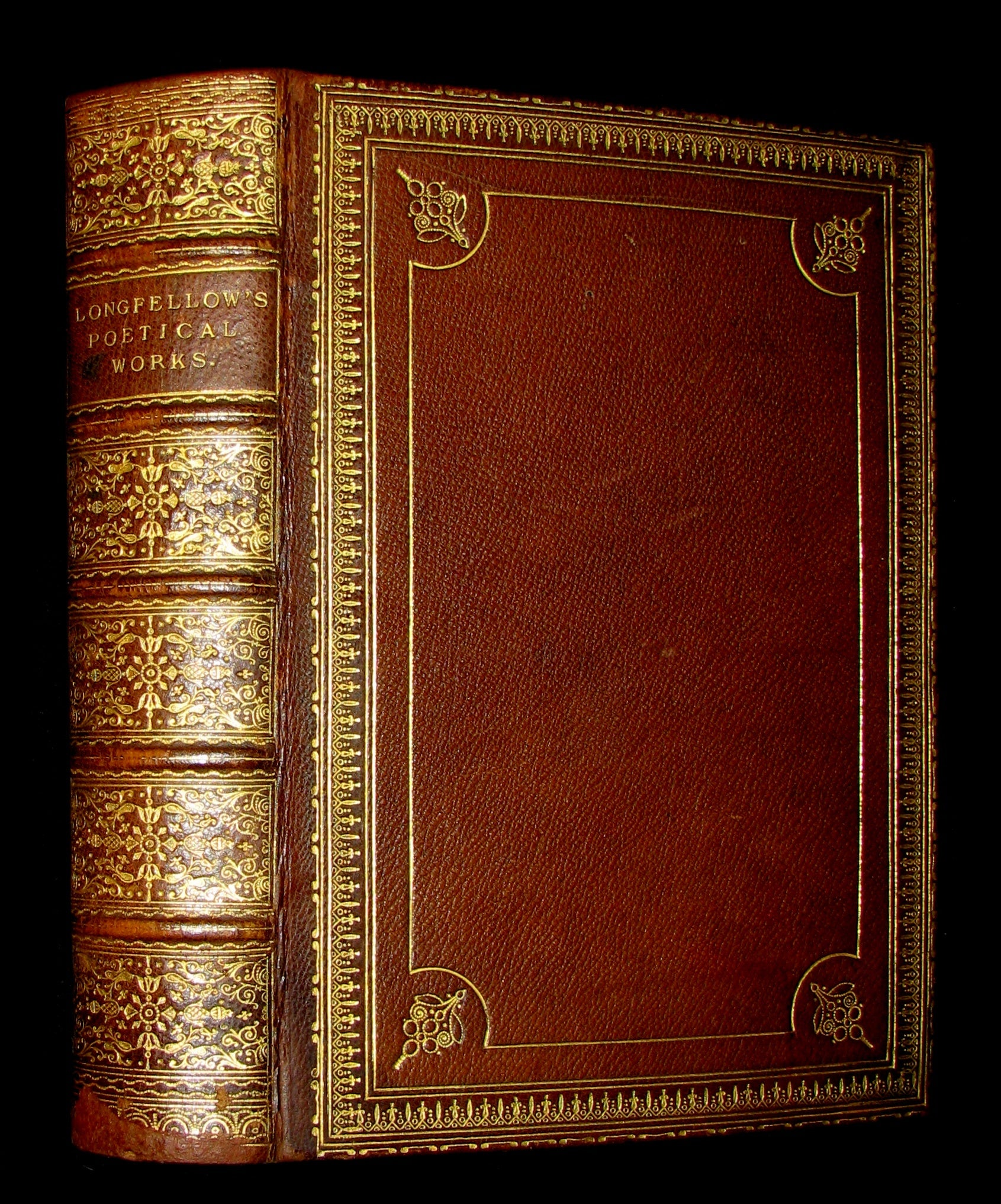 1877 Rare Victorian Book -  The Poetical Works of Longfellow Illustrated by Sir John Gilbert.