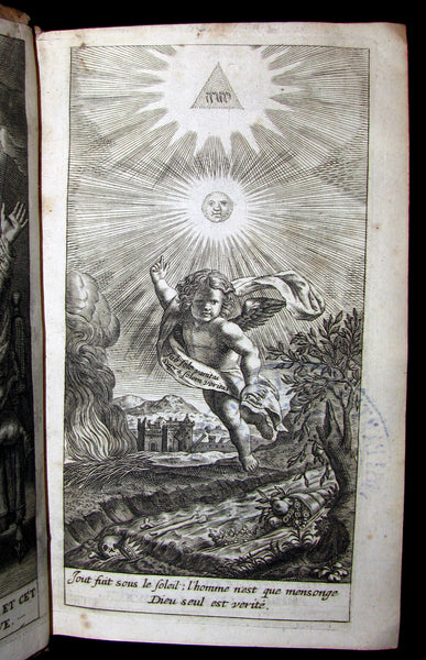 1678 Rare Latin French Book BIBLE- The BOOK of PROVERBS- Les Proverbes de SALOMON