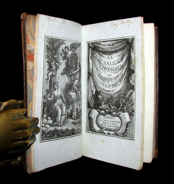 1783 Rare Italian Book set - Jerusalem Delivered - La Gerusalemme Liberata by Torquato Tasso.
