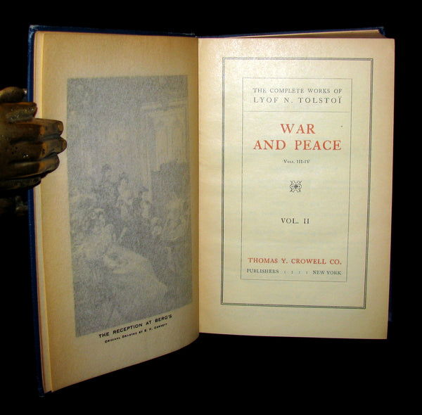 1926 Rare Book set - WAR and PEACE by Count Lev Nikolayevich Tolstoy. Illustrated.