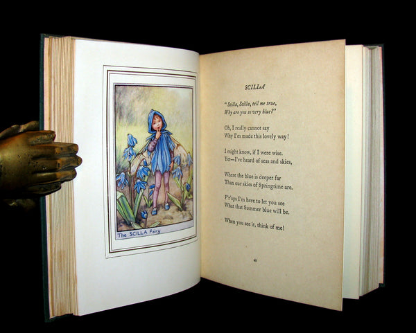 1950 Rare Book - Cicely Mary Barker - FAIRIES OF THE FLOWERS AND TREES - 1st Ed