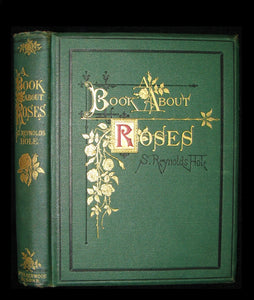 1872 Rare Victorian Gardening Book -  A book about Roses : How to grow and show them