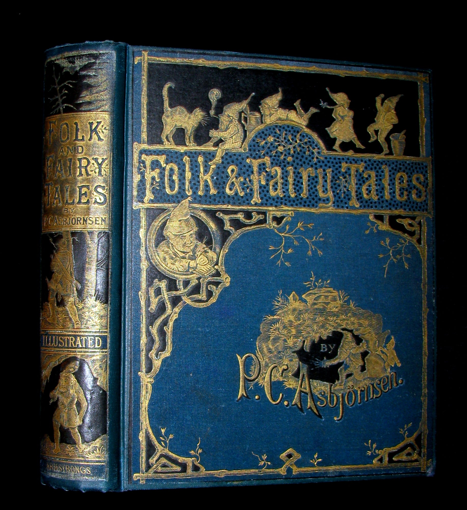 1883 Scarce Book - Norwegian Folk and Fairy Tales by P. Chr. Asbjörnsen. Illustrated.