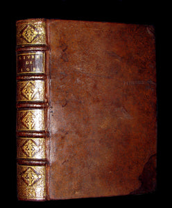 1691 Rare Latin French Book Bible - BOOK of JOB by Isaac-Louis Le Maistre de Sacy
