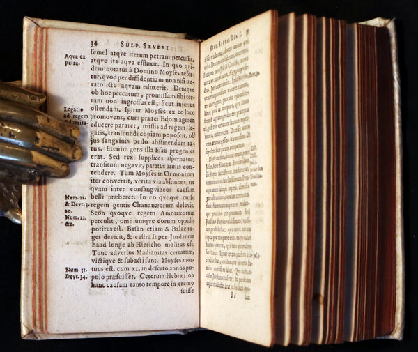 1668 Scarce Latin vellum Book - Sulpicius Severus Chronicle of Sacred History and Life of Saint Martin of Tours.