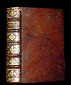 1694 Rare Latin French Book Bible - Book of EZEKIEL - EZECHIEL by Le Maistre de Sacy