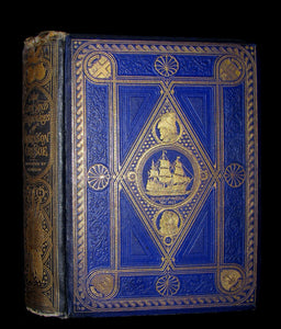 1869 Rare Victorian Book - THE LIFE & ADVENTURES OF ROBINSON CRUSOE illustrated.