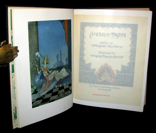 1928 Rare First Edition - ARABIAN NIGHTS illustrated by Virginia Frances Sterrett.