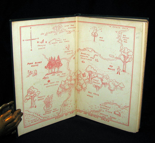 1926 First Edition - WINNIE-THE-POOH by A. A. Milne & Illustrated by Ernest H. Shepard.