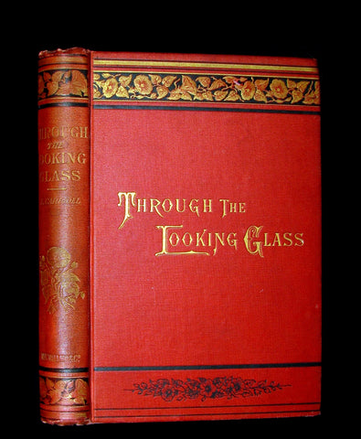 1880 Rare Book - Through the Looking-Glass, and What Alice Found There by Lewis Carroll