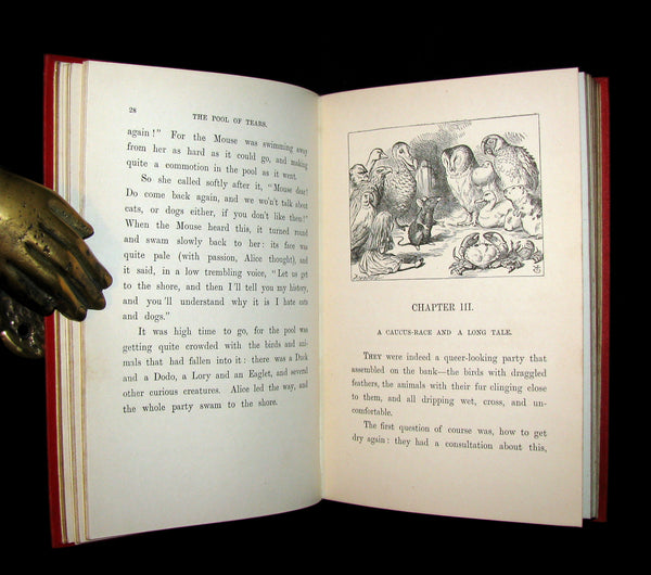 1899 Rare Book - ALICE'S ADVENTURES IN WONDERLAND by Lewis Carroll. Fine Condition.