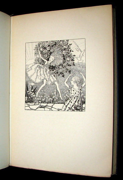 1922 Rare 1stED Book -  DOWN-ADOWN-DERRY, A Book of FAIRY POEMS illustrated.