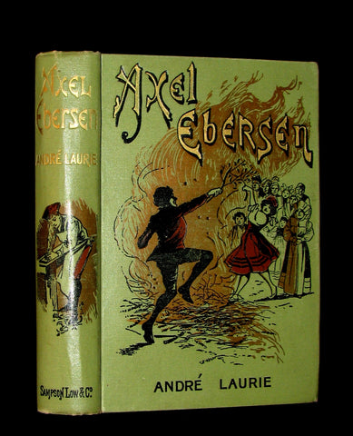 1892 Scarce 1stED Book - AXEL EBERSEN The Graduate of Upsala by Jules Verne collaborator.