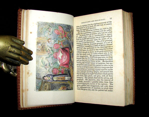 1830 1stED Color Illustrated - binding by Riviere - Letters on Demonology & Witchcraft by Walter Scott.