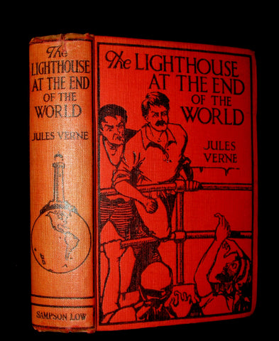 1923 Scarce Early Edition Jules Verne - The Lighthouse at the End of the World