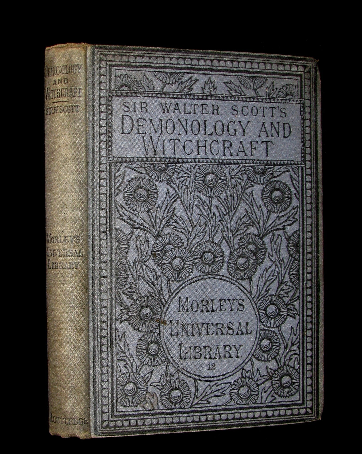 1885 Rare Edition  - Demonology & Witchcraft - WITCHES & FAIRIES by Sir Walter Scott.