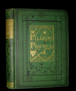 1877 Rare Victorian Book - The Pilgrim's Progress illustrated by Henry Courtney Selous & M. Paolo Priolo.