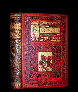 1885 Rare and beautiful Victorian Book - The Poetical Works of EDGAR ALLAN POE.