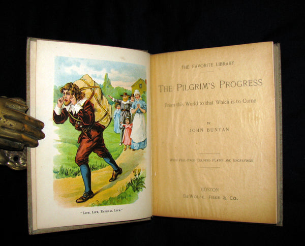 1900 Rare Book - The Pilgrim's Progress from This World to That Which is to Come by John Bunyan