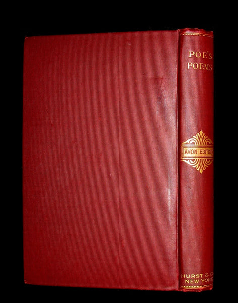 1892 Rare Book - The Poetical Works Of EDGAR ALLAN POE with a full and impartial Memoir of the Poet.