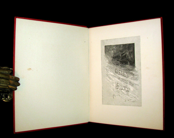 1883 Rare Victorian Christmas Book - BELLS ACROSS THE SNOW by Frances Ridley Havergal. Illustrated.