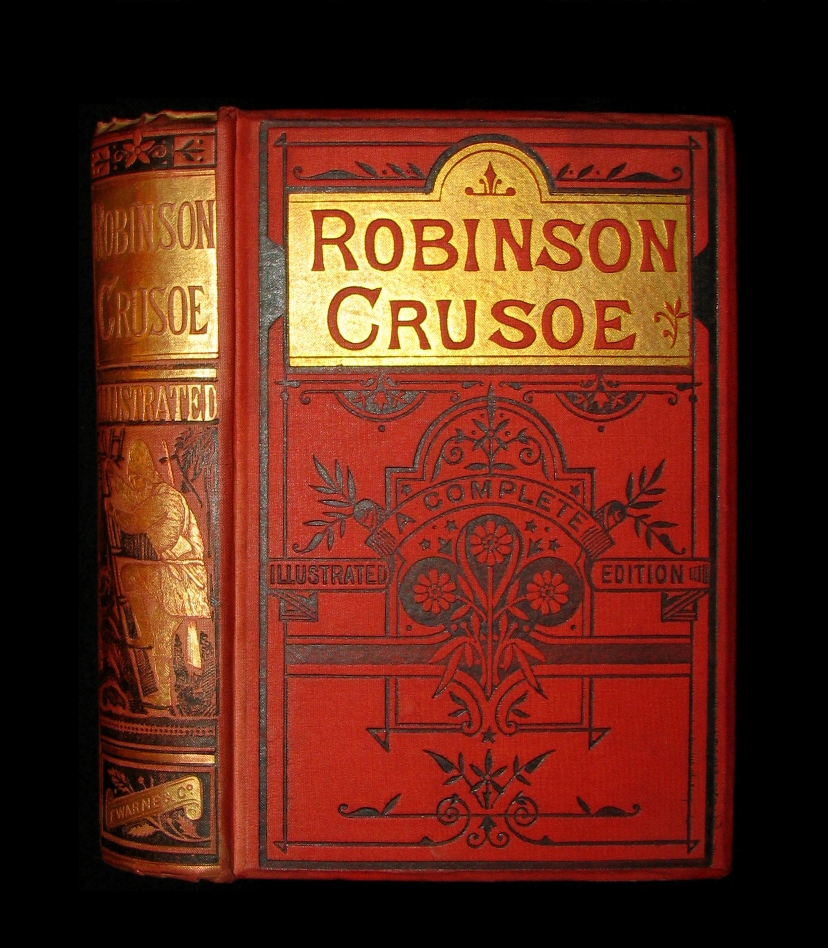 1880 Rare Book - THE LIFE & ADVENTURES OF ROBINSON CRUSOE. Illustrated by Ernest Griset.
