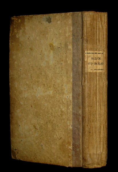 1828 Scarce Book - SALEM WITCHCRAFT - Wonders of the Invisible World by Robert Calef.
