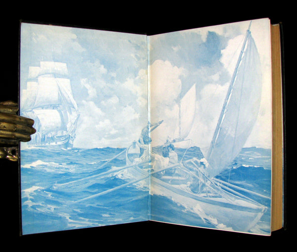 1931 Rare Book - Moby Dick or The White Whale by Herman Melville, illustrated by Anton Otto Fischer.