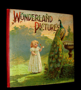 1899 Scarce Nister Revolving Toy Book - WONDERLAND PICTURES - 6 chromolithographed volvelles.