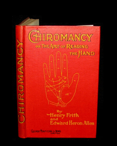 1900 Scarce CHIROMANCY Book -  The Science of Palmistry by Henry Frith. Illustrated.