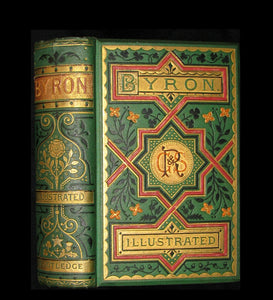 1870 Rare Victorian Book - Poems by Lord Byron illustrated by Foster & Gilbert.
