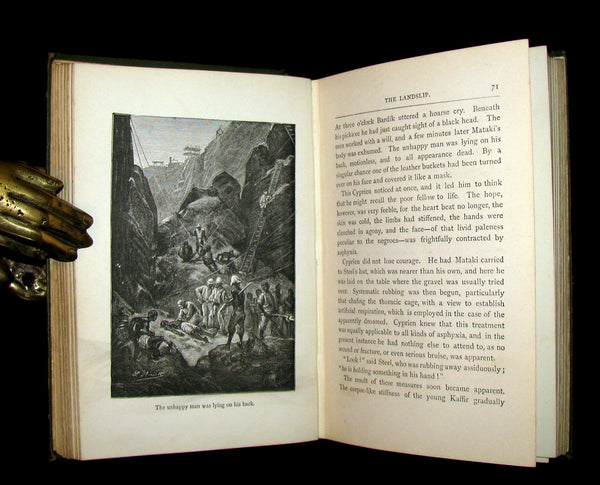 1896 Scarce Edition - Jules Verne - The Vanished Diamond: A Tale of South Africa.