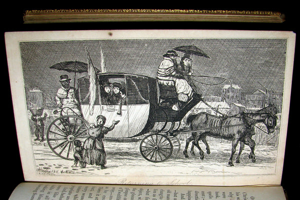1837 Scarce Book ~ The Book of CHRISTMAS - Traditions, Superstitions. Illustrated by Robert Seymour.
