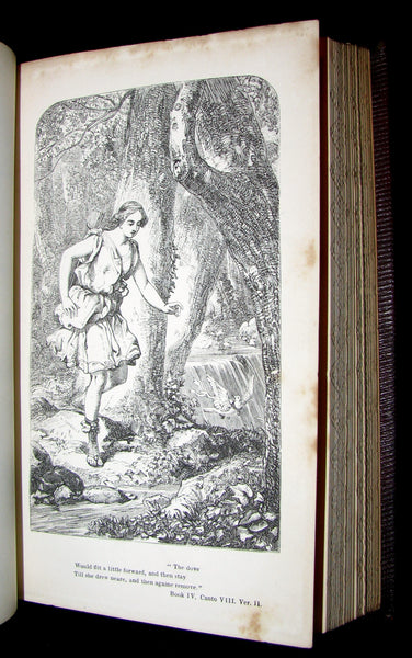 1855 Rare Fairy Queen Book ~ The FAERIE QUEENE by Edmund SPENSER Illustrated by Corbould.